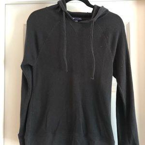 GAP Black Thermal Hooded Shirt (M)